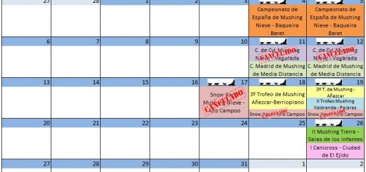 Calendario Marzo 2 - 2017