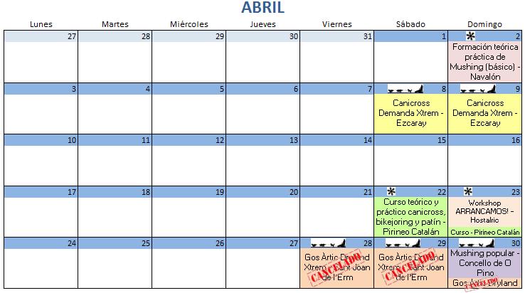 Calendario Abril - 2017
