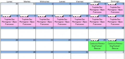 Calendario Agosto - 2018