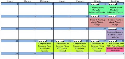 Calendario Octubre - 2018
